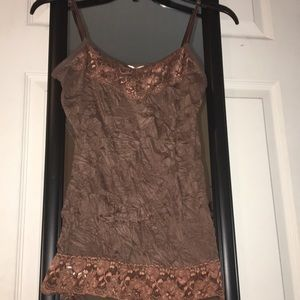 Maurice's small brown lace tank